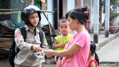 243 female NTS operator on duty in Hai Lang 14082018