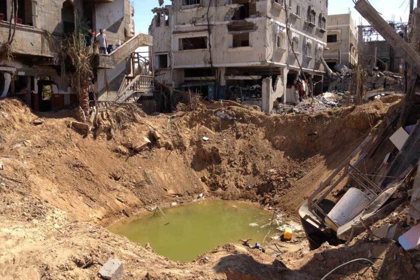 Gaza crater wash 960