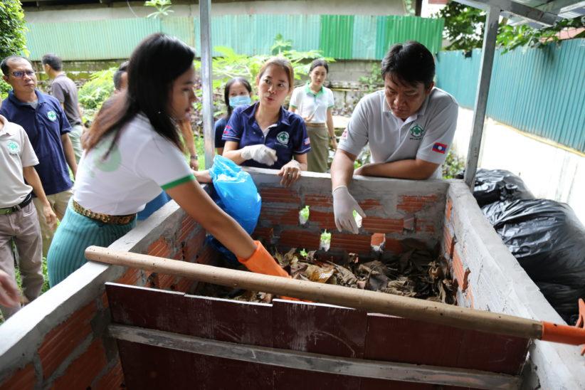 Ms Khanthaly Moonvong NPA Compost Bin