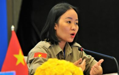 Linh at the briefing 7